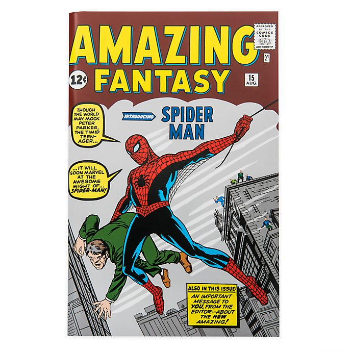 Disney Store Journal Spider-Man, comics Amazing Fantasy