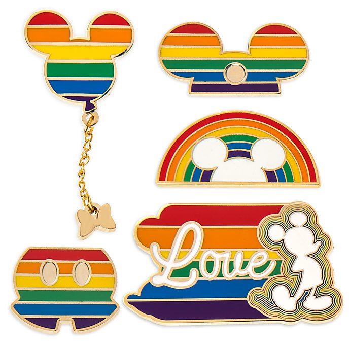 Disney Store Mickey Mouse Rainbow Disney, Ensemble de pin's