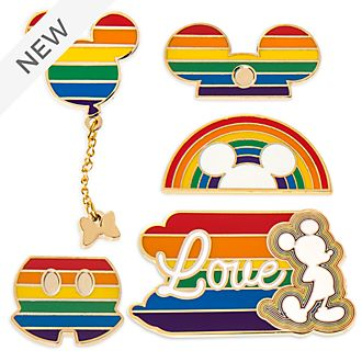 Disney Store Mickey Mouse Rainbow Disney Pin Set
