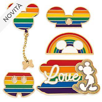 Set di pin Rainbow Disney Topolino Disney Store