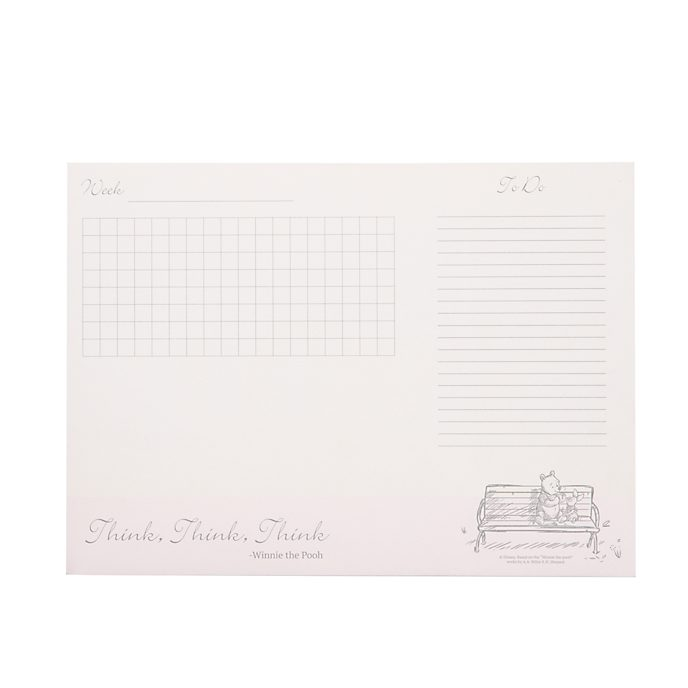 Disney Store Winnie the Pooh Desk Notepad
