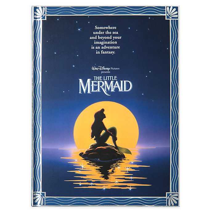 Disney Store The Little Mermaid Film Poster Journal