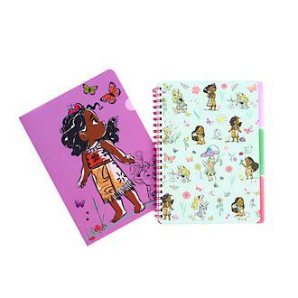 Set cuaderno y carpeta colección Disney Animators, Disney Store