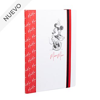 Diario rojo y blanco Minnie Mouse, Disney Store