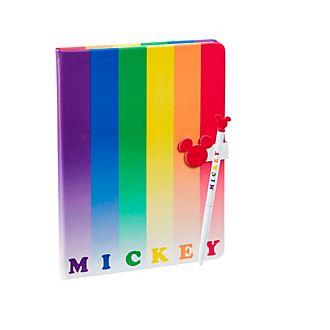 Funko diario y bolígrafo arcoíris Mickey Mouse