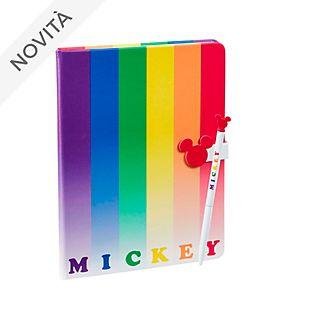 Taccuino con penna Mickey Mouse Rainbow Topolino Funko