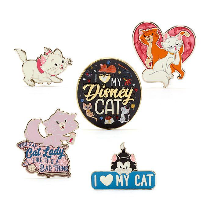 Disney Store Disney Cats Pin Set