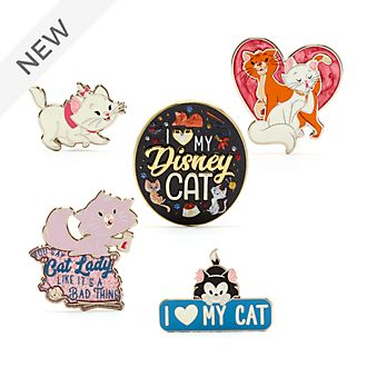 Disney Store Disney Cats Pin Set