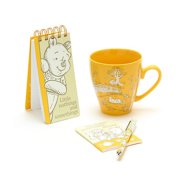 Set regalo cuadernos y taza Winnie the Pooh, Disney Store