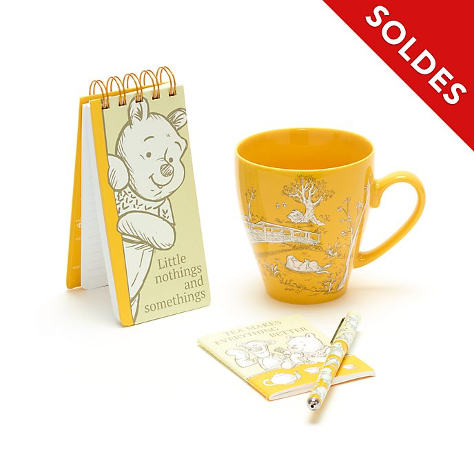 Disney Store Ensemble cadeau Mug avec calepins Winnie l'Ourson