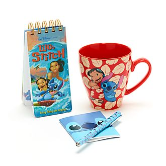 Disney Store Stitch Notebook and Mug Gift Set