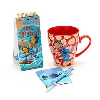 Set regalo cuadernos y taza Stitch, Disney Store