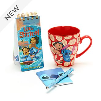 Disney Store Stitch Notebook and Mug Gift Set