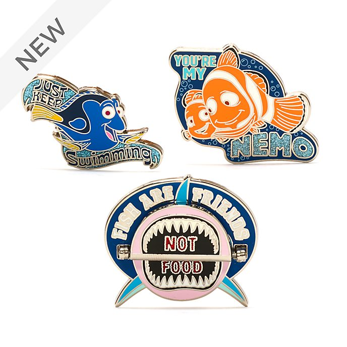 Disney Store Finding Nemo Pin Set