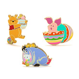 Disney Store Winnie the Pooh Easter Pin Set