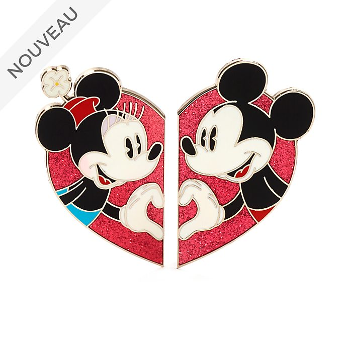 Disney Store Ensemble de pin's Coeur Mickey et Minnie