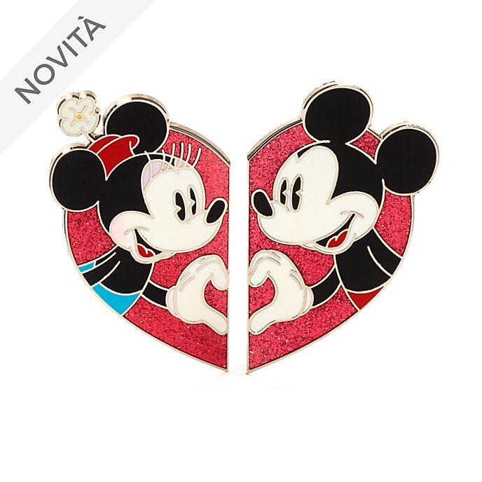 Set di pin Topolino e Minni cuore Disney Store
