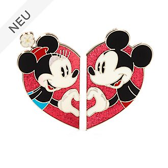Disney Store - Micky und Minnie - Herzförmiges Anstecknadelset