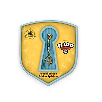 Pin llave Pluto, 90.º aniversario, Opening Ceremony, Disney Store
