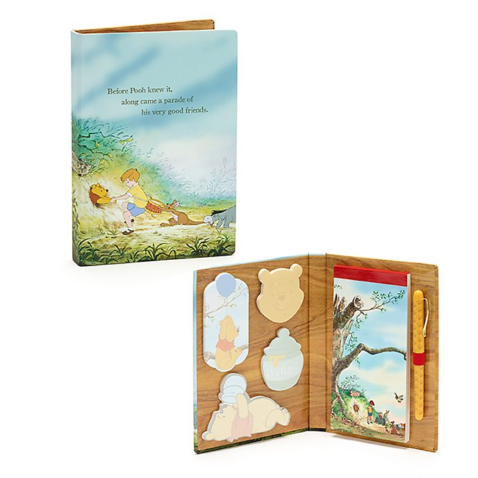 Disney Store Winnie the Pooh and the Honey Tree Notebook and Sticky Notes Set