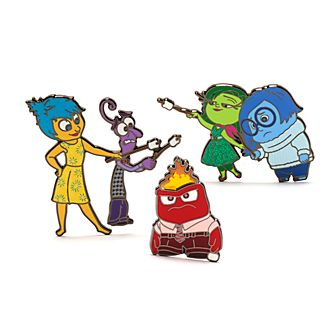 Set pins Inside Out: Del Revés, Disney Store