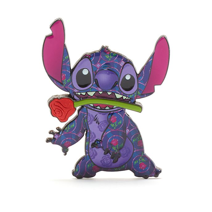 Disney Store Beauty and the Beast Stitch Crashes Disney Jumbo Pin, 1 of 12