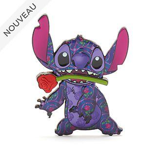 Disney Store Pin's La Belle et la Bête, Stitch Crashes Disney,1sur12