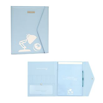 Disney Store World of Pixar Logo Padfolio