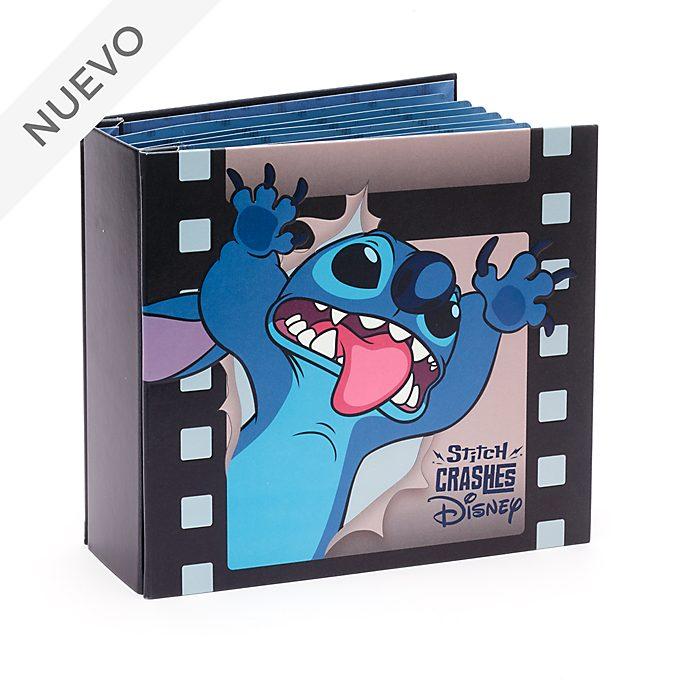 Libro para coleccionar pins Stitch Crashes Disney, Disney Store