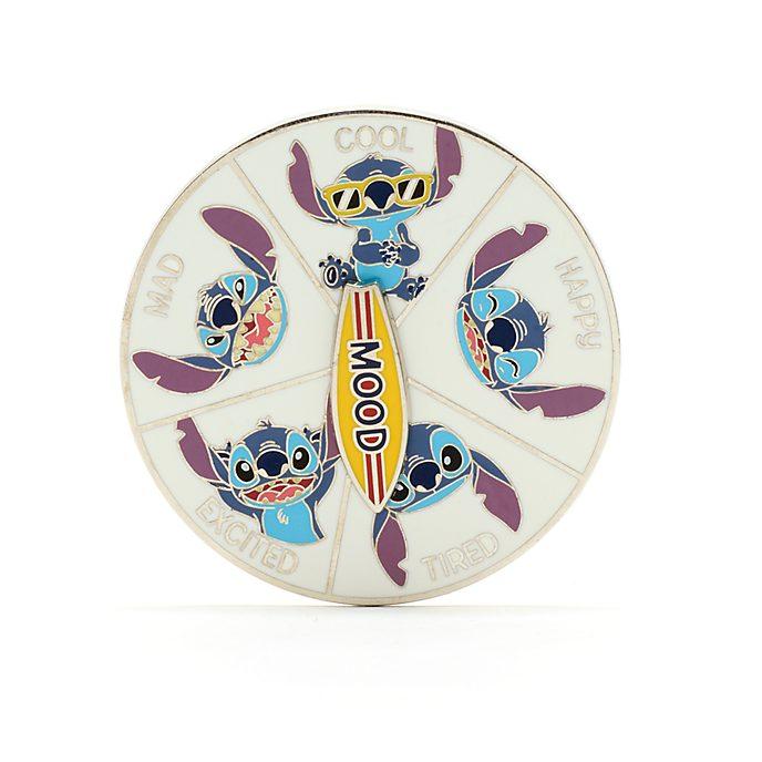 Pin ruleta con estados ánimo Stitch, Disney Store