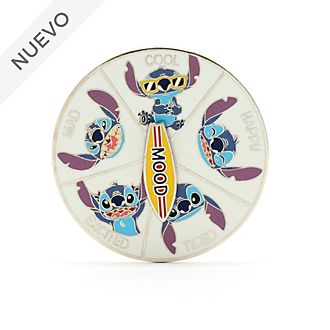 Pin ruleta con estados ánimo Stitch, Disney Store