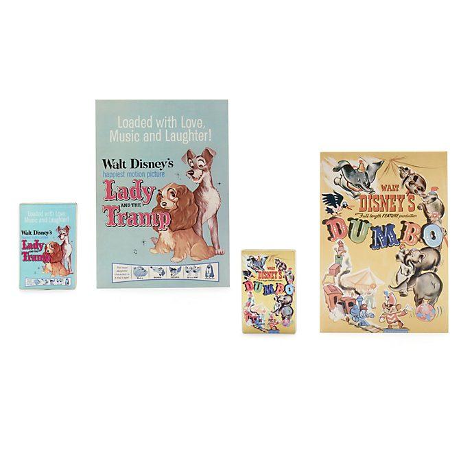 Set de pins de pósteres clásicos Disney, Disney Store (1 de 2)