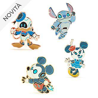 Set di pin Topolino e i suoi amici Robot Disney Store
