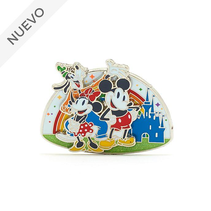 Walt Disney World pin Mickey, Minnie y Goofy, Rainbow Disney