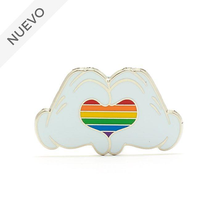 Walt Disney World pin corazón arcoíris Mickey Mouse, Rainbow Disney