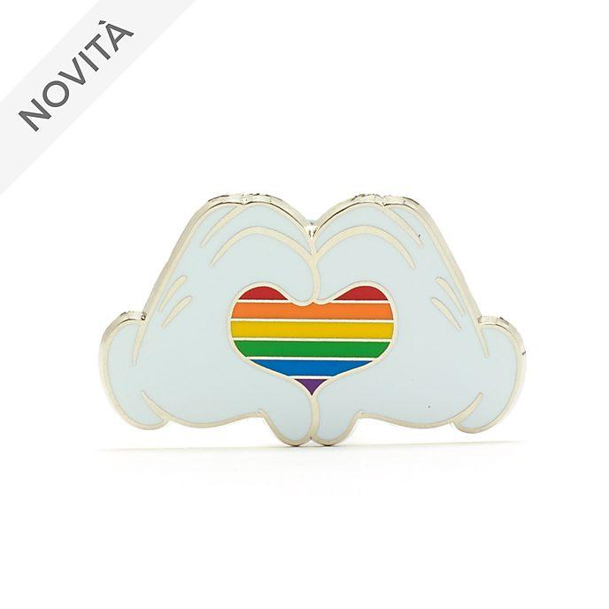 Pin Topolino Cuore arcobaleno Rainbow Disney Walt Disney World