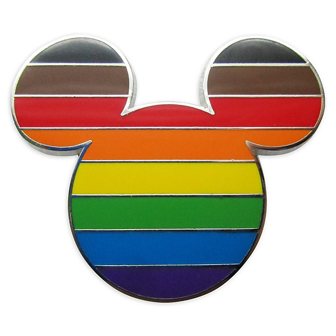 Disney Store Mickey Mouse Intersectional Flag Pin