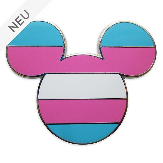 Disney Store - Micky Maus - Anstecknadel mit Flagge der Transgender-Bewegung