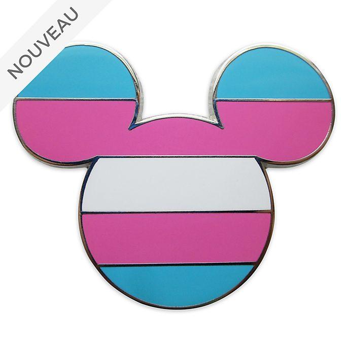 Disney Store Pin's Drapeau transgenre Mickey