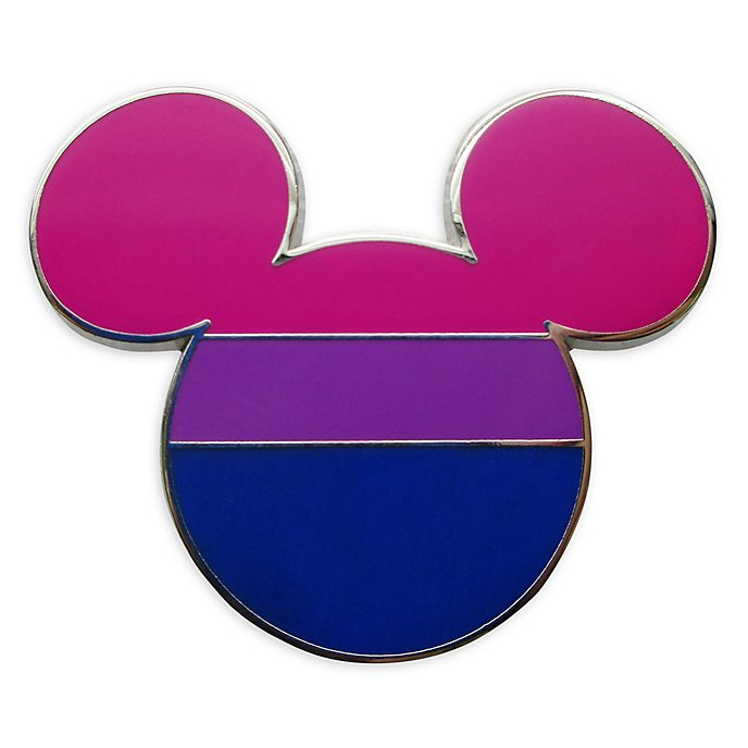 Disney Store Mickey Mouse Bisexual Flag Pin