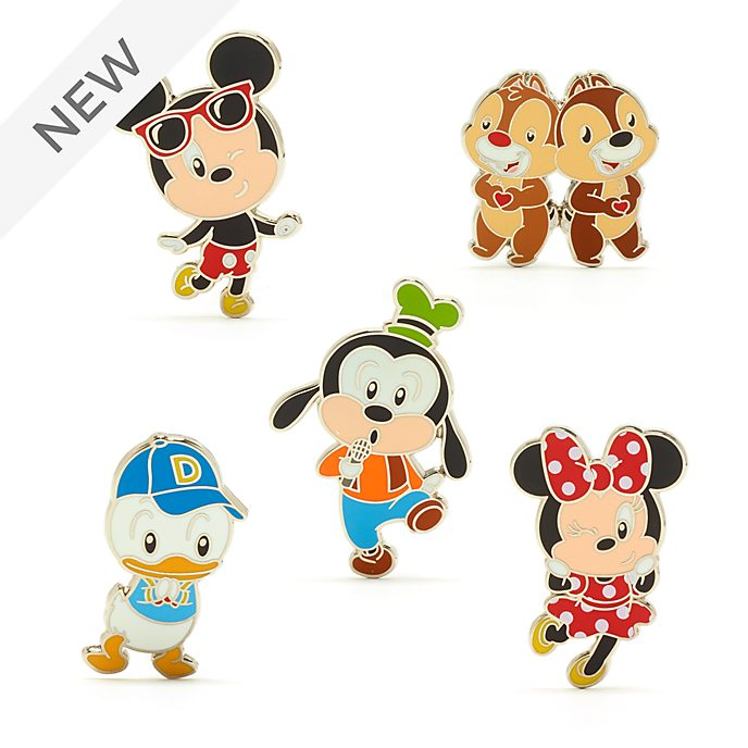Walt Disney World Mickey and Friends Pin Set
