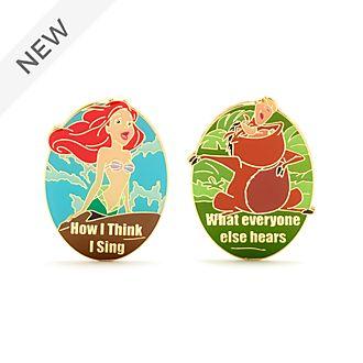 Disney Store Ariel and Pumbaa 'How I Sing' Pin Set