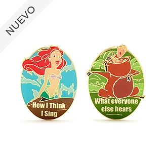 Set pins Ariel y Pumba ''How I Sing'', Disney Store