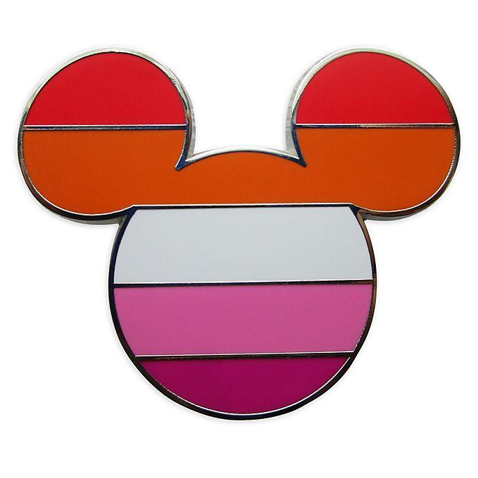 Disney Store Mickey Mouse Lesbian Flag Pin