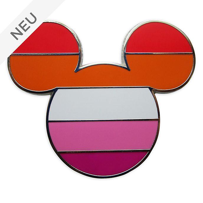 Disney Store - Micky Maus - Anstecknadel mit Flagge der Lesben-Bewegung