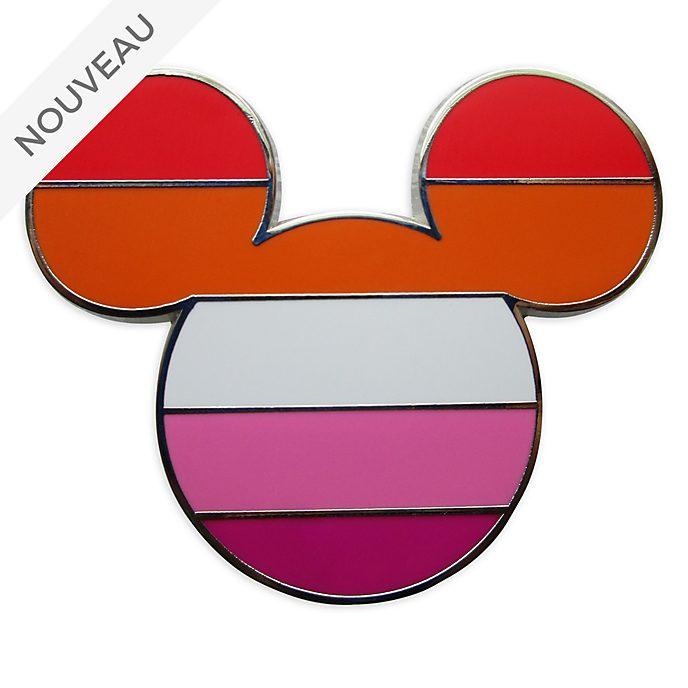 Disney Store Pin's Drapeau lesbien Mickey