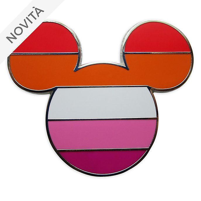 Pin bandiera lesbica Topolino Disney Store