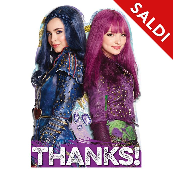 8 Cartoline di ringraziamento Descendants 2 Disney Store