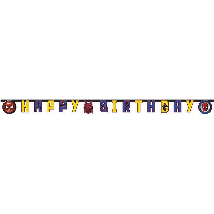 Festone Happy Birthday Spider-Man: Homecoming