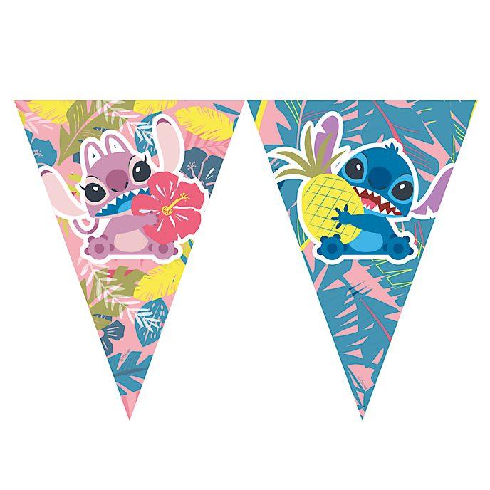 Festone con bandierine Stitch e Angel